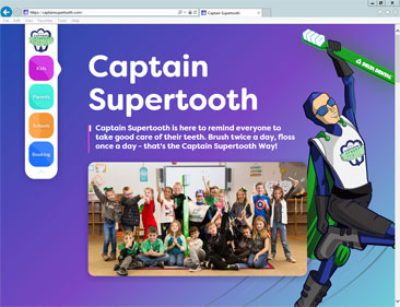 Click image to visit Captain Supertooth website